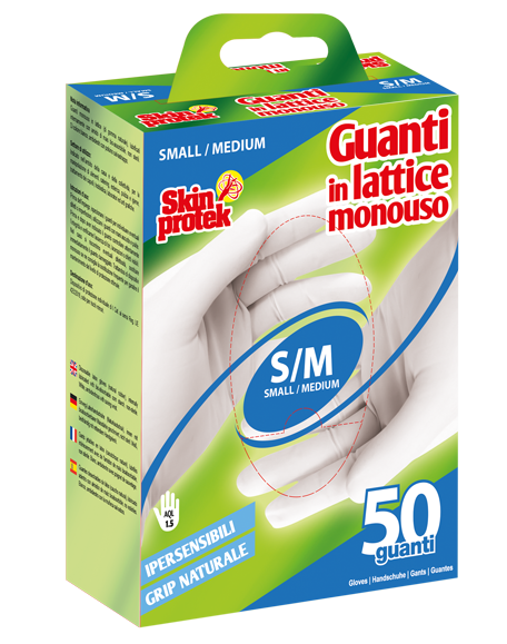 skin protek guanti lattice