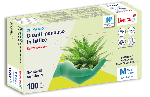 derma aloe guanti lattice